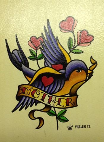 flash sheet water color Providence Rhode Island RI mother mom songbird song bird