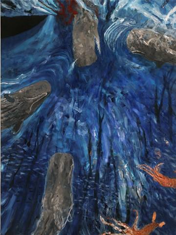 Neptune's Elephant, LEFT UPPER PANEL