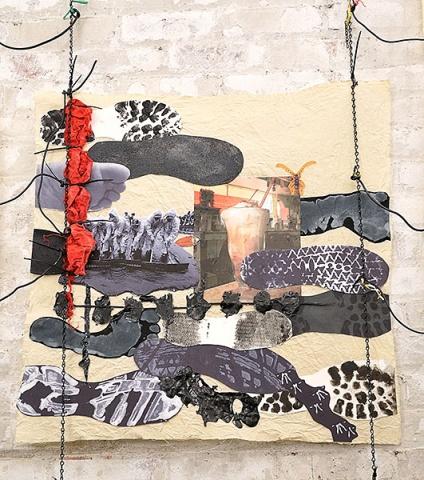 Deluge,collage Detail