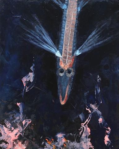 deep sea creatures, spook fish painting