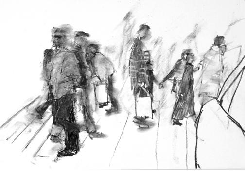 Drawing, Street Crossing