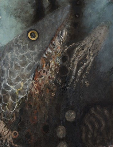 Untitled (oil,fish,octopus)