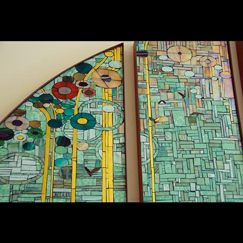 Mosaic Donor Recognition Wall at Youngstown Cultural Art Center by Kate Jessup