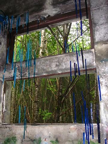 Kate Jessup, art installation, Green Goes Black