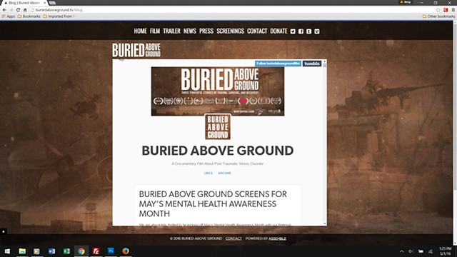 Buried Above Ground - Tumblr news page embed