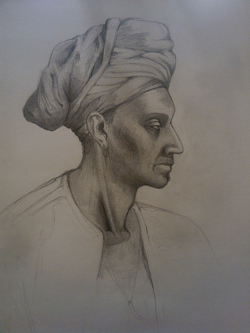 Man with a head wrap