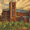 Sanford Heart Hospital, Sioux Falls, SD Oil painting on Canvas, Nancyjane Huehl, Huehl Studios