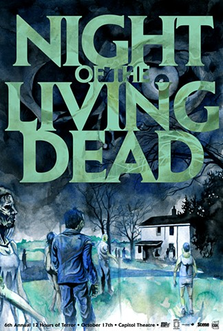 Night of the Living Dead poster art CHOD