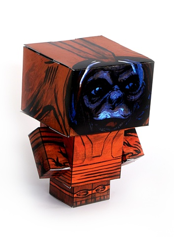 Space Monkey Paper Toy
