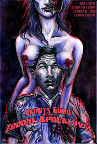 Scouts Guide to the Zombie Apocalypse poster art CHOD