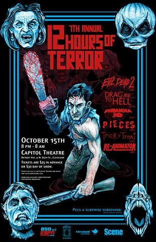 Cleveland Cinemas 12 Hours of Terror Evil Dead 2 art CHOD