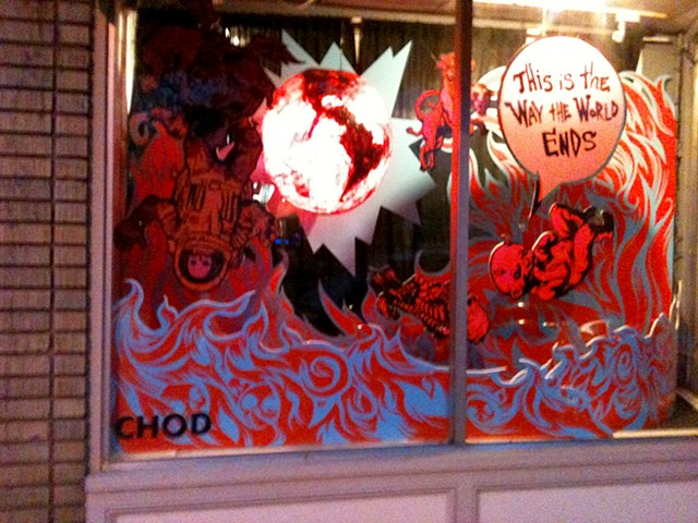 This is the Way the World Ends Window Display