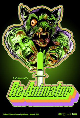 Re-Animator poster art CHOD