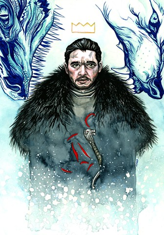 chod, chod artist, king of the north, game of thrones, metroorageart, jon snow