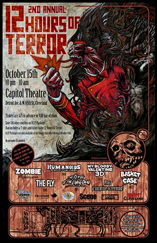 Cleveland Cinemas 12 Hours of Terror art CHOD