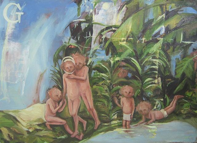 """gaby greenlee painting """"devotee"""""""