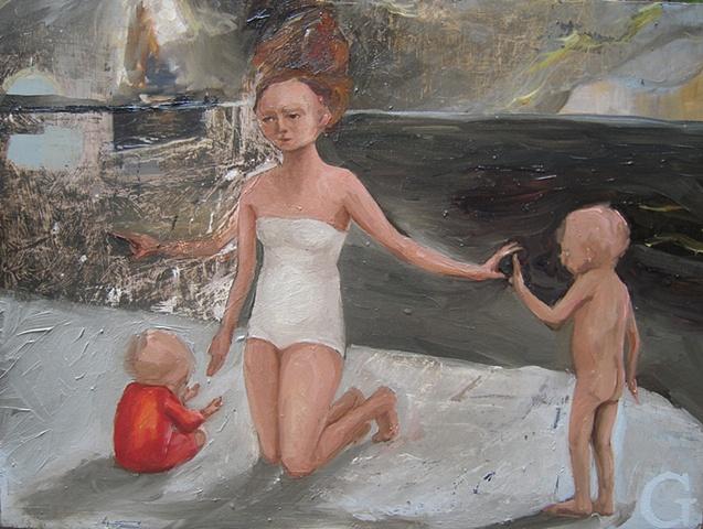 """gaby greenlee painting """"beach"""""""