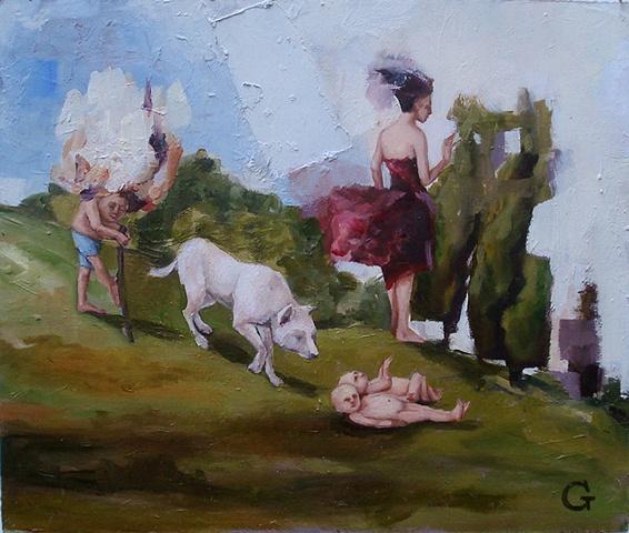 """gaby greenlee painting """"origins II"""""""