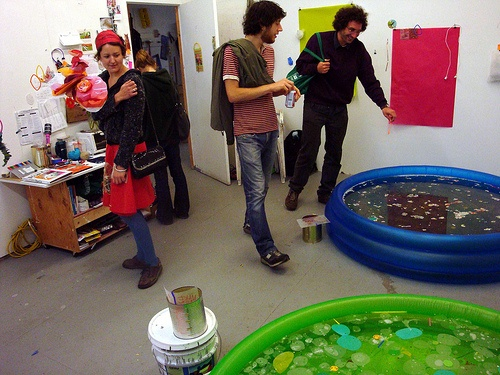 floater series:bubble play pool (semi-action shot)