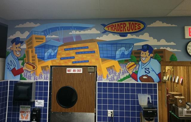 Mural of sports Stadium, twins, Target field.