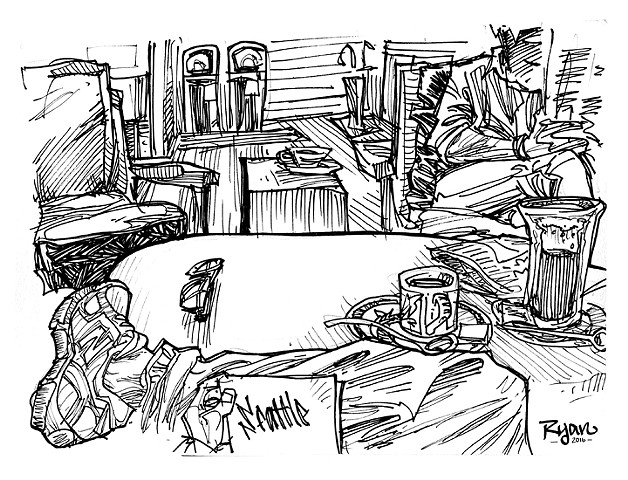Coffee house sketchs