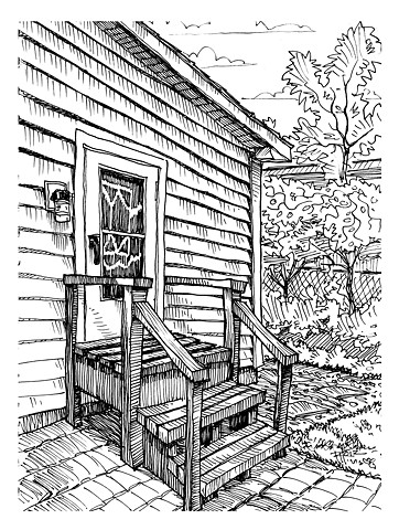 Back porch of childhood home