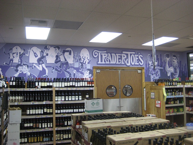 Mural Purple Flappers wine dancing 20's Probation