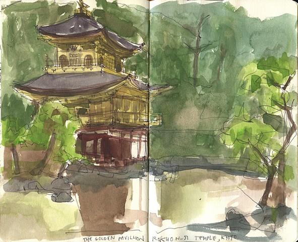 The Golden Pavillion. Kyoto, Japan.