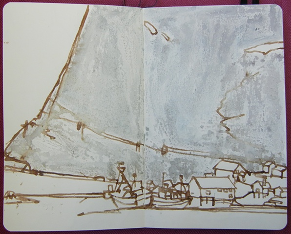 Sketch from Sakrisøy, Lofoton