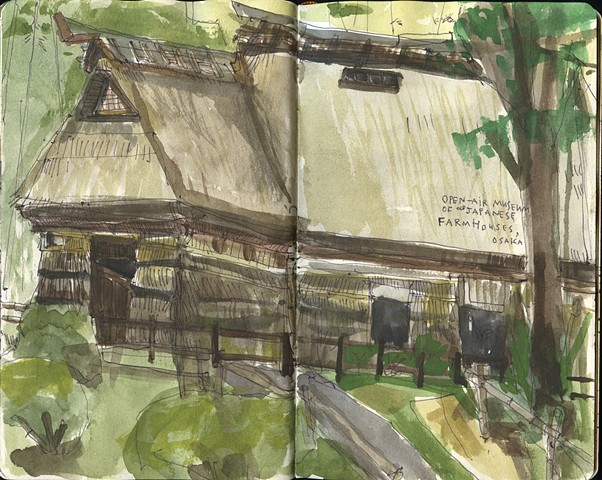 Open Air Museum of Japanese Farmhouses. Osaka, Japan.