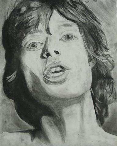 Value Study of Mick Jagger