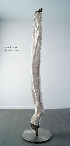 Jann Nunn Bronze Sculpture Carved Paper Sculpture