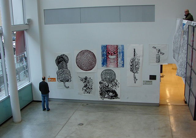 prints hanging in OCADU lobby
