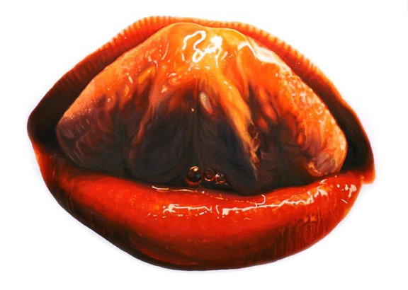 elizabeth winnel, mouth, painting, 2011, painter