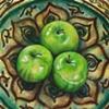 Green Apples in Persian Bowl