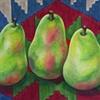 Three Pears on Azeri Kilim