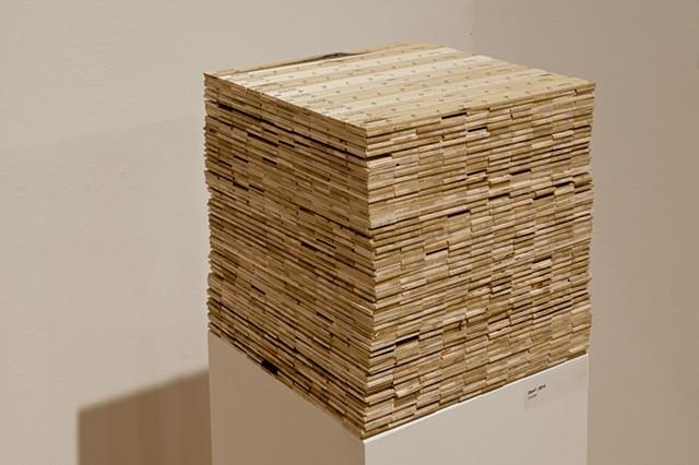 Dam Cubed Silkscreen on Wood 12.8394707 in. x12.8394707 in. x 12.8394707 in.