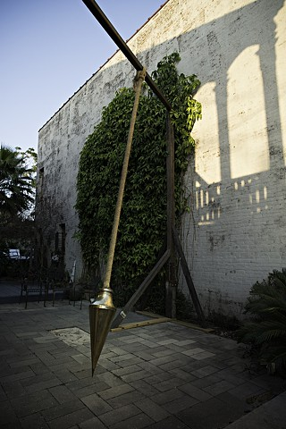 Calibrated for the Ends of the World Bronze, Rope, Steel 16 in. x  8 in. x 12.875 in.