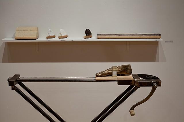 Personal Calibrator Steel, Bronze, Oak, Poplar,  Plaster, Marble, Aluminum, Stone 53 in. x 46 in. x 19.5 in.
