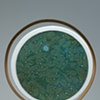 EBB 2011 Kiln-formed glass, Walnut, Steel 26 in. x 21 in. x 4 in.