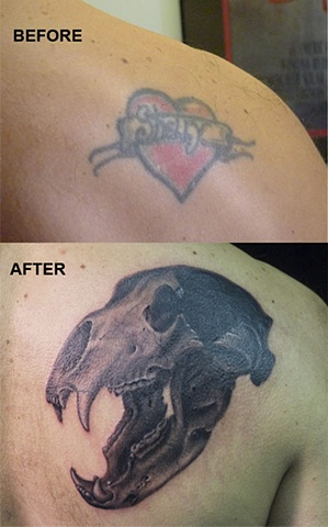 bear skull heart coverup j majury black and grey