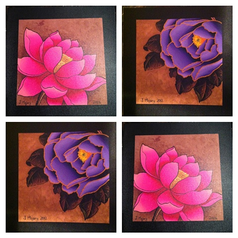 Peony and Lotus Prints