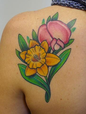 First string tattoo studio winnipeg for Sweet pea tattoo