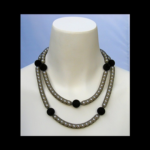 Double Strand with Velvet Beads