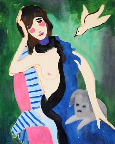 study 2 (after Marie Laurencin)