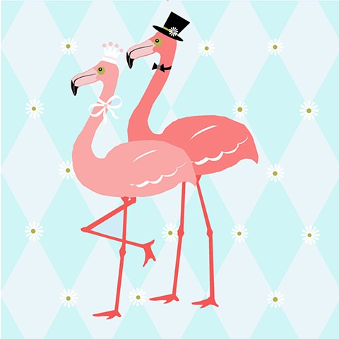 Flamingo Couple