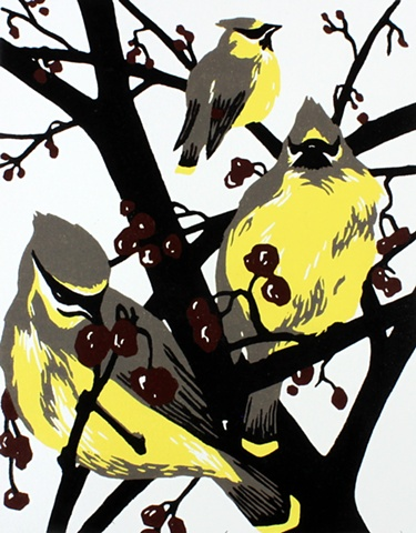 Emily Gray Koehler - Winter Waxwings