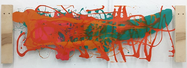 "UG Studio: Painting 2016, Acrylic on acetate 24"" x 60"""