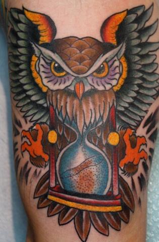 owl and hourglass