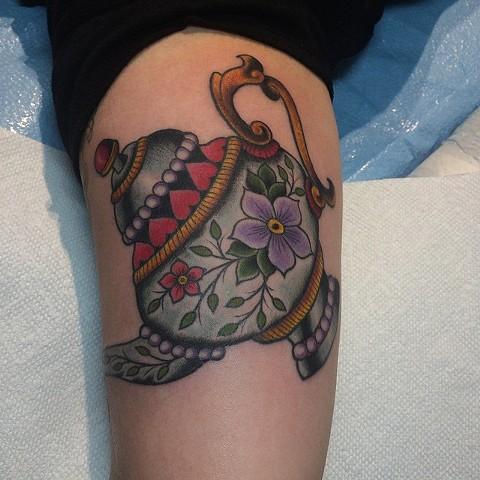 teapot tattoo